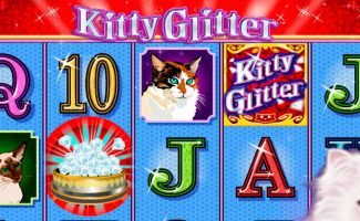 Kitty Glitter IGT wyrmspel slider