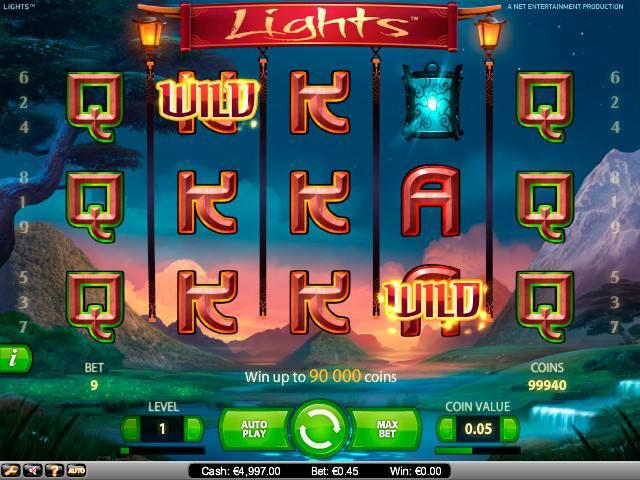 Lights NetEnt spelautomater screenshot