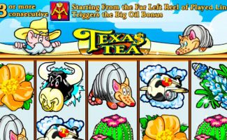 Texas Tea IGT wyrmspel slider