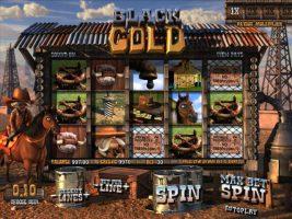 Black Gold betsoft spelautomater screenshot