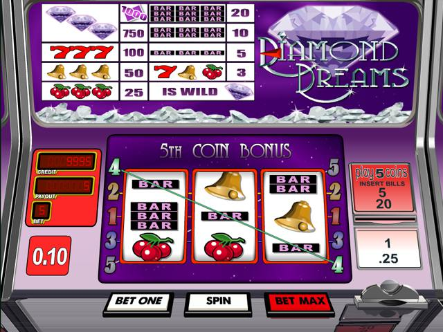 Diamond Dreams  betsoft spelautomater slider