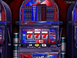 Red White & Blue 7s betsoft spelautomater screenshot