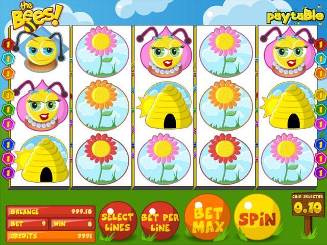 The Bees betsoft spelautomater screenshot