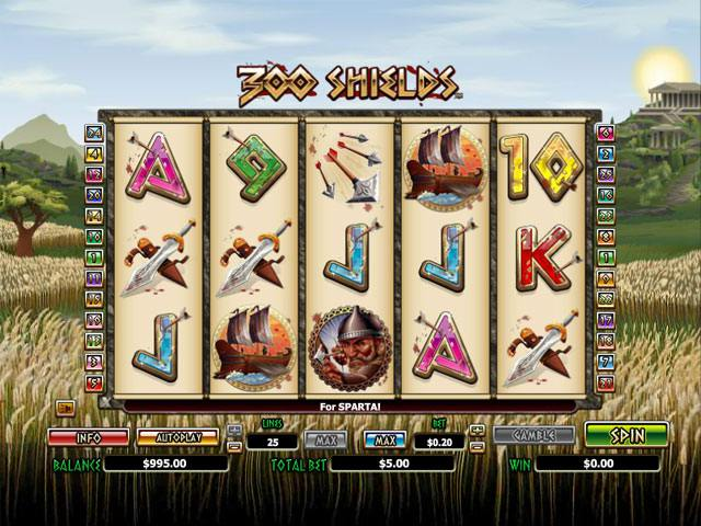300 Shields Microgaming spelautomater screenshot