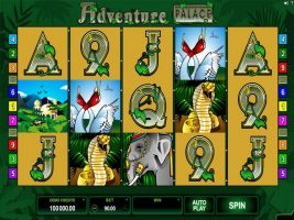 Adventure Palace Microgaming spelautomater screenshot