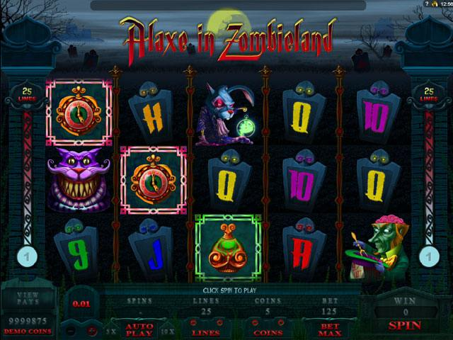 Alaxe In Zombieland Microgaming spelautomater screenshot