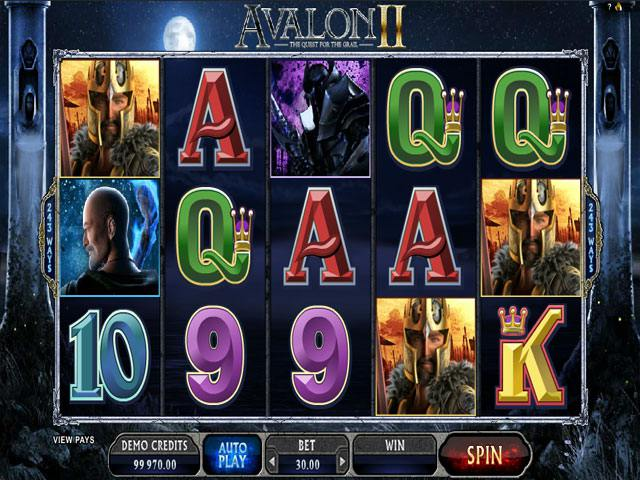 Avalon II Microgaming spelautomater screenshot