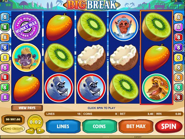 Big Break Microgaming spelautomater screenshot