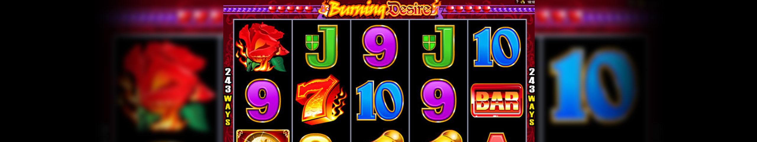 Burning Desire Microgaming spelautomater slider
