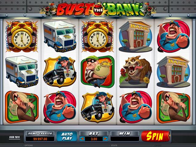 Bust <a href='https://wyrmspel.com/online-casino/joycasino/'>The Bank Microgaming spelautomater</a> screenshot