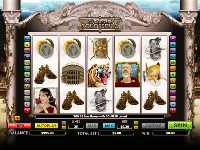 Call of the Colosseum Microgaming spelautomater screenshot