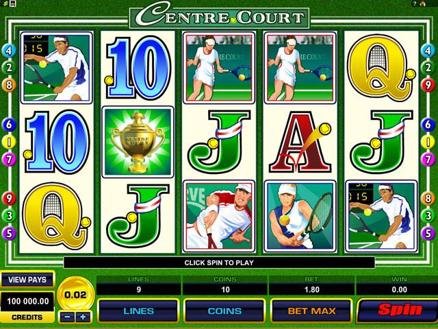 Centre Court Microgaming spelautomater screenshot