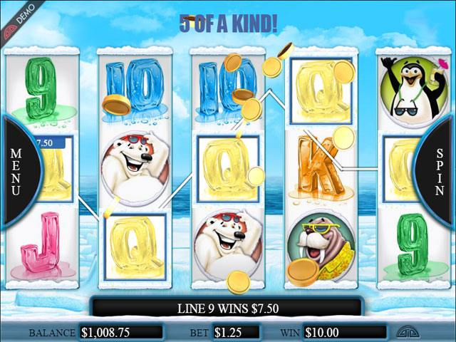 Cool as Ice Microgaming spelautomater screenshot