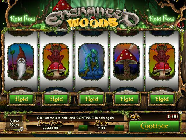 Enchanted Woods Microgaming spelautomater screenshot
