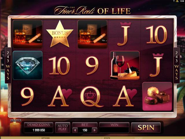 Finer Reels of Life Microgaming spelautomater screenshot