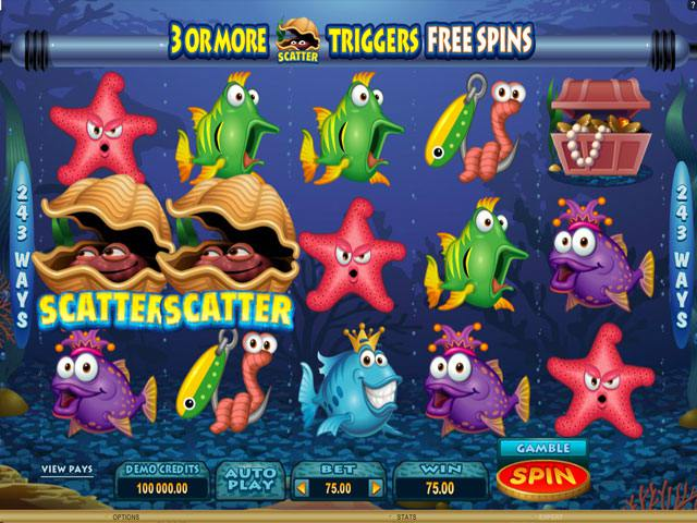 Fish Party Microgaming spelautomater screenshot