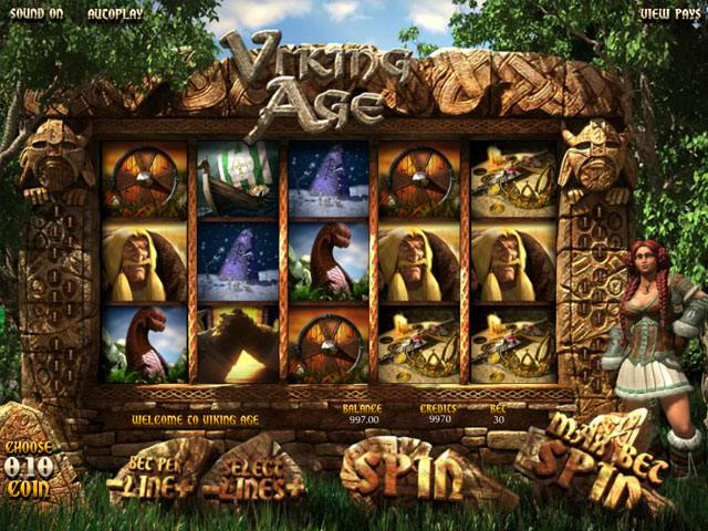 Viking Age Betsoft spelautomater screenshot