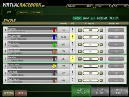 Virtual Racebook 3D Betsoft spelautomater screenshot