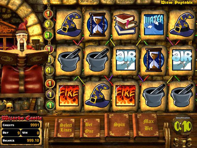 Wizards Castle Betsoft spelautomater slider