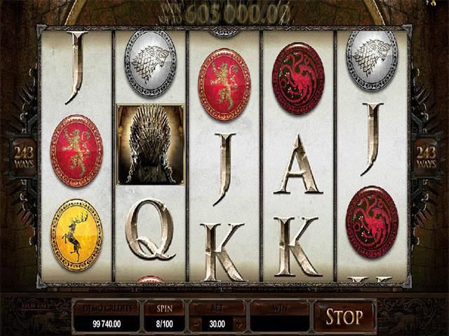 Game of Thrones microgaming spelautomater screenshot