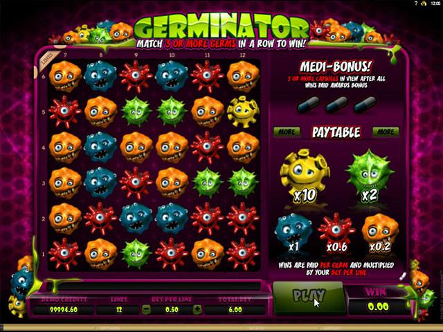 Germinator microgaming spelautomater screenshot
