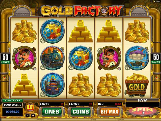 Gold Factory microgaming spelautomater screenshot