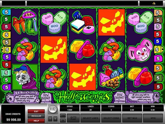 Halloweenies microgaming spelautomater screenshot