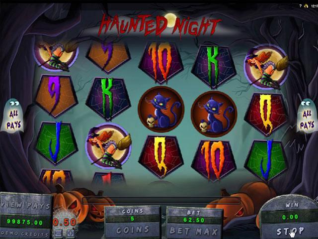 Haunted Night microgaming spelautomater screenshot