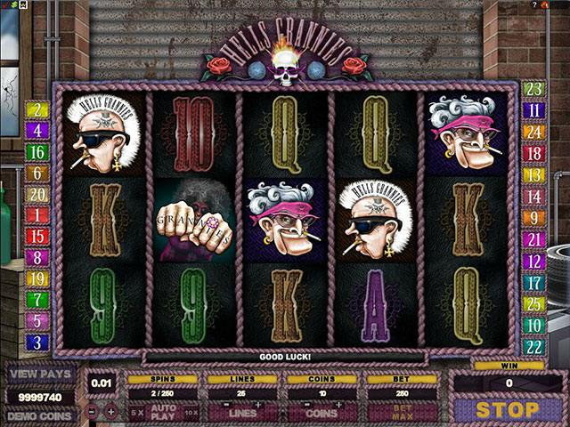 Hells Grannies microgaming spelautomater screenshot