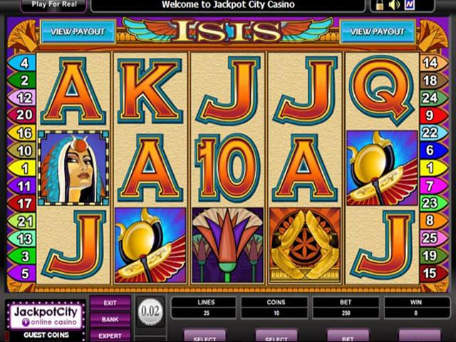 Isis microgaming spelautomater slider