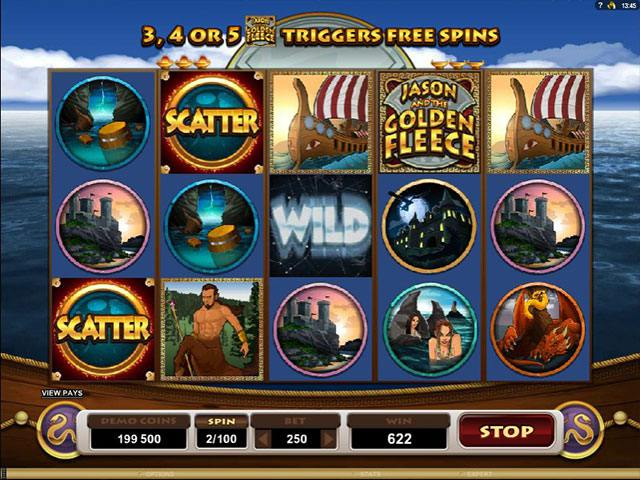 Jason and the Golden Fleece microgaming spelautomater screenshot