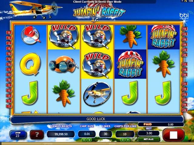 Jumpin Rabbit microgaming spelautomater screenshot