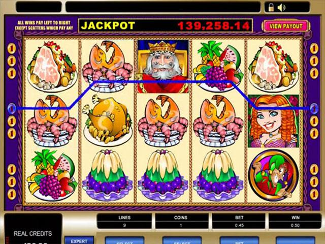 King Cashalot microgaming spelautomater screenshot