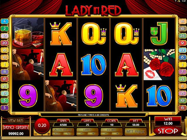 Lady in Red microgaming spelautomater screenshot
