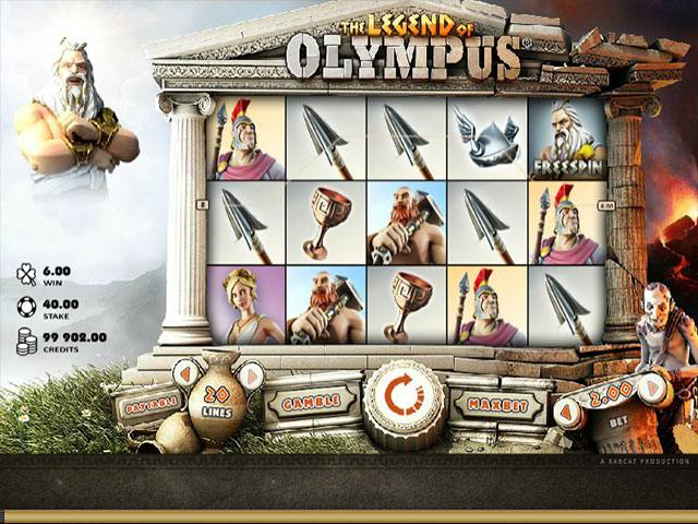 Legend Of Olympus microgaming spelautomater screenshot