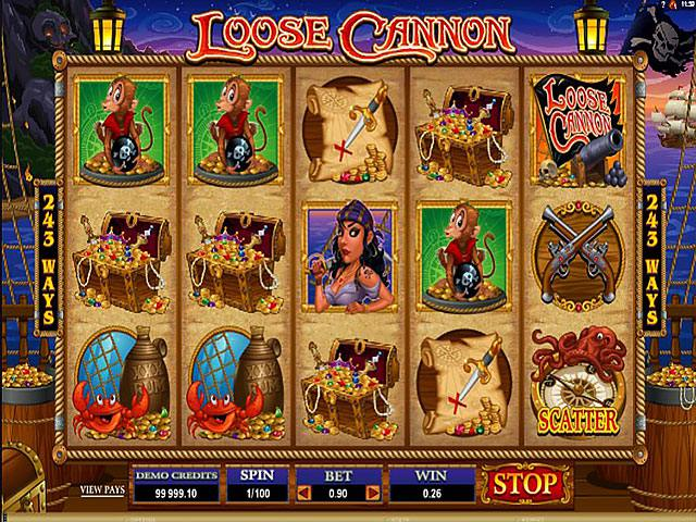 Loose Cannon microgaming spelautomater screenshot