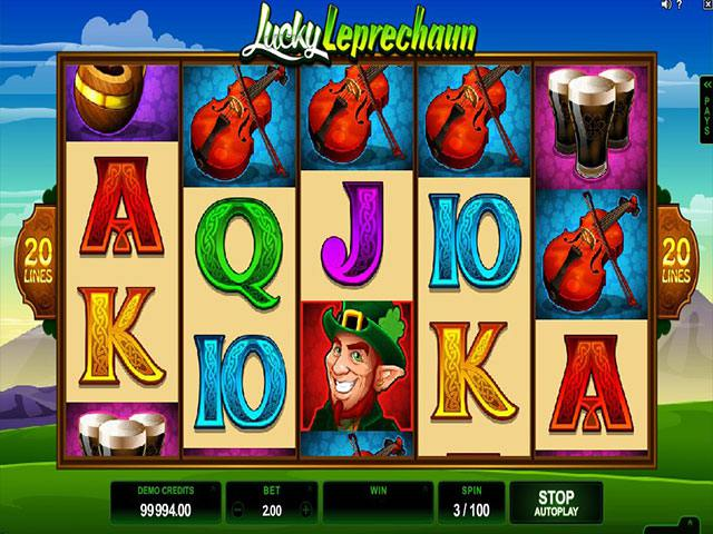 Lucky Leprechaun microgaming spelautomater screenshot