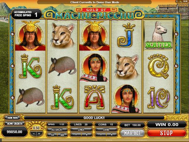 Machu Picchu microgaming spelautomater screenshot