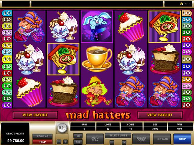 Mad Hatters Microgaming spelautomater screenshot