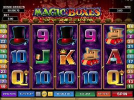 Magic Boxes Microgaming spelautomater screenshot