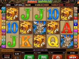 Mega Moolah Microgaming spelautomater screenshot