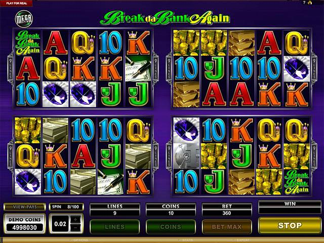 Mega Spins Break Da Bank Microgaming spelautomater screenshot