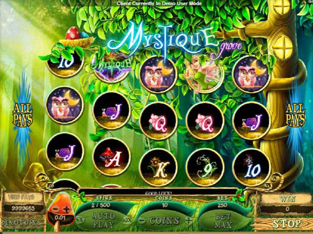 Mystique Grove Microgaming spelautomater screenshot