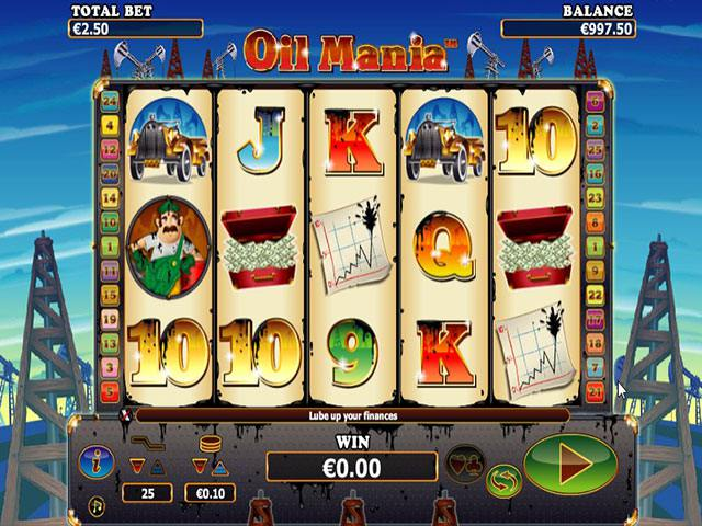 Oil Mania Microgaming spelautomater screenshot