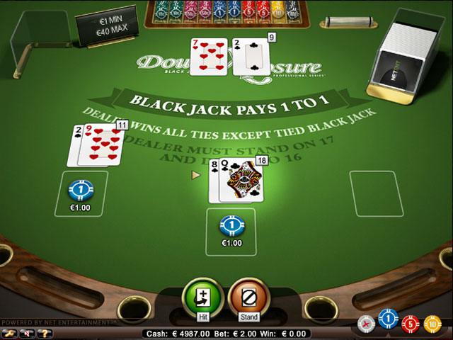 Double Exposure Blackjack Professional Series Standard Limit NetEnt screenshot