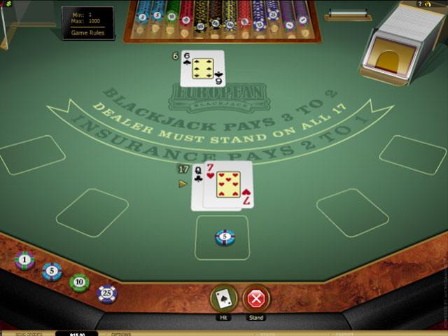 European Blackjack Gold Microgaming screenshot