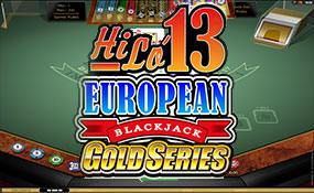 HiLo 13 European Blackjack Gold Microgaming thumbnail