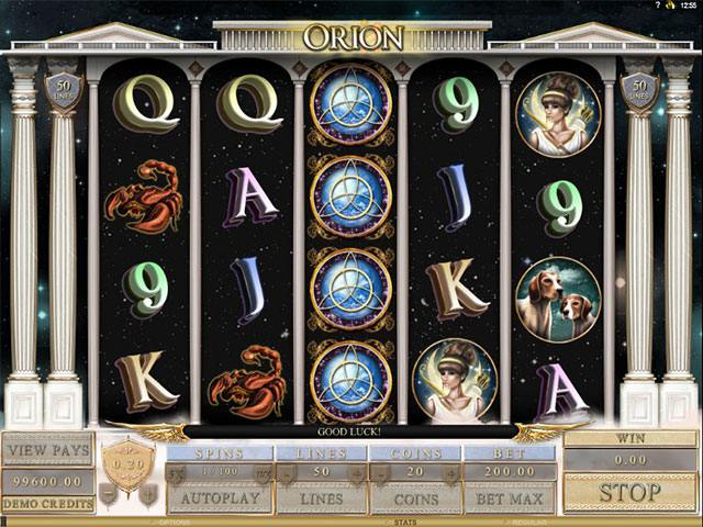 Orion Microgaming spelautomater screenshot