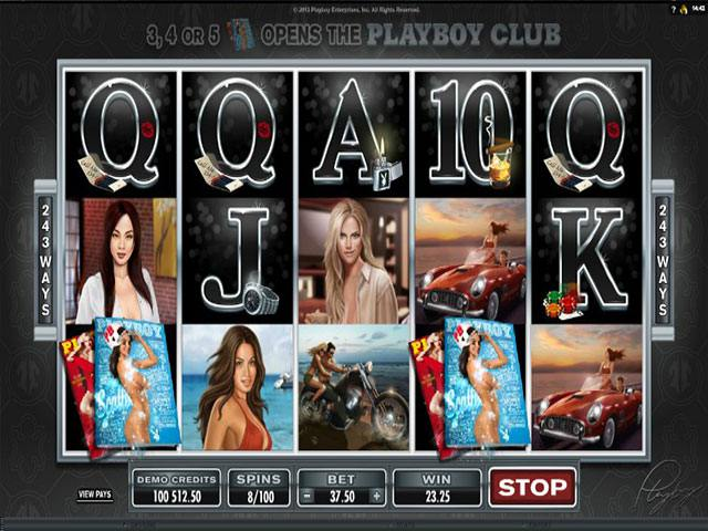 Playboy Microgaming spelautomater screenshot