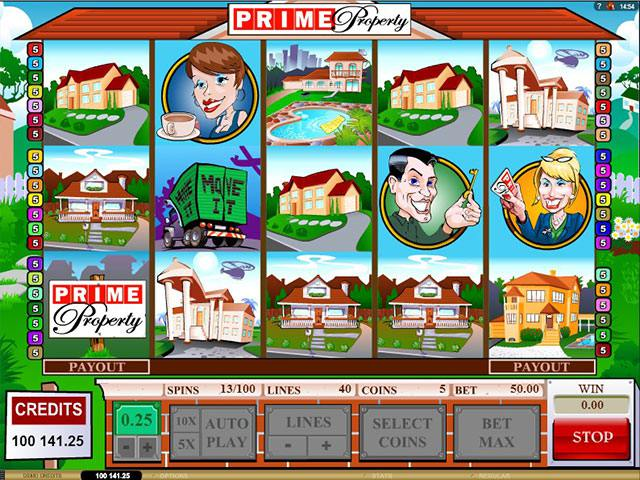 Prime Property Microgaming spelautomater screenshot